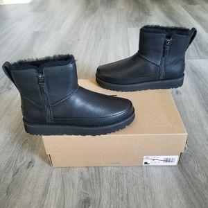 UGG Classic Zip Mini Leather Boot